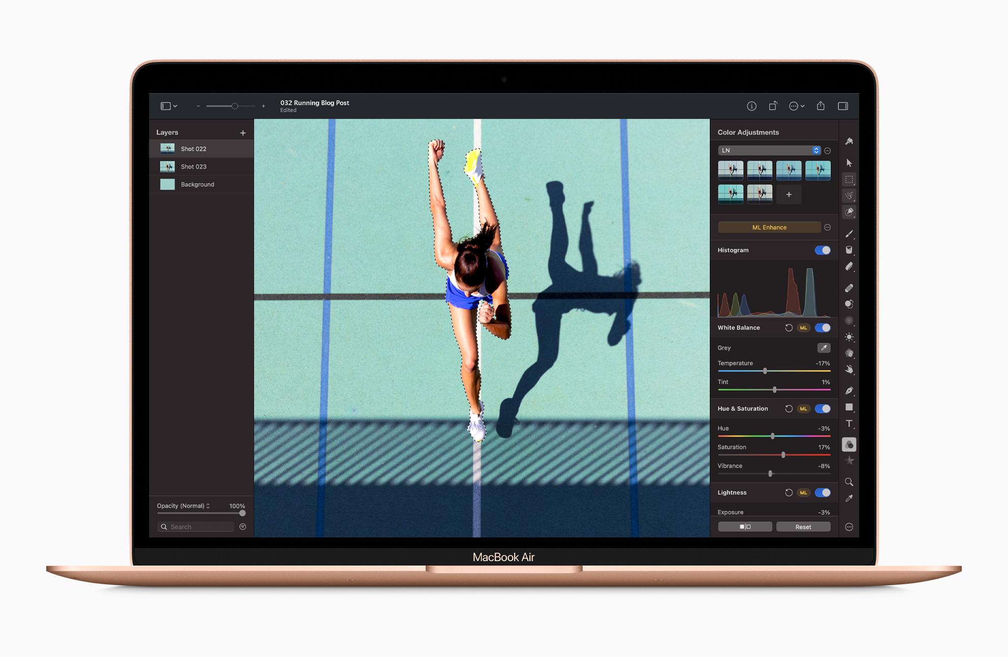 M1 MacBook Air ja kuvankäsittelyohjelma